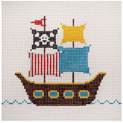 click here to view larger image of Pirate Ship (hand painted canvases)