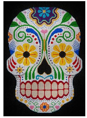 click here to view larger image of Day of the Dead with Daisy Eyes (hand painted canvases)