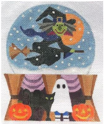 click here to view larger image of Halloween Snow Globe (hand painted canvases)