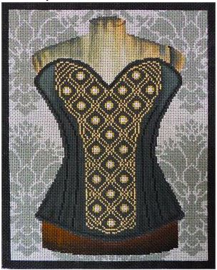click here to view larger image of Black and Gold Corset (hand painted canvases)