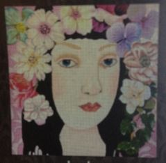 click here to view larger image of Blossom (hand painted canvases)