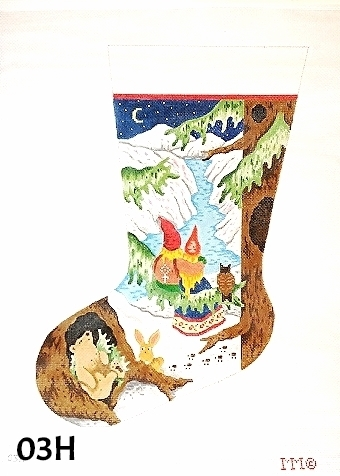 click here to view larger image of Gnome Couple Stocking (hand painted canvases)