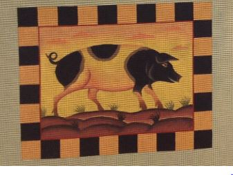 click here to view larger image of Farm Pig (hand painted canvases)