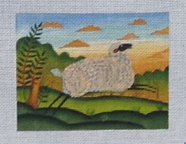 click here to view larger image of Morning Sheep (hand painted canvases)