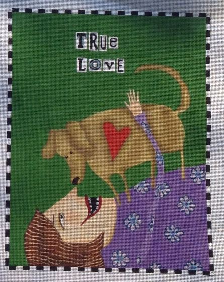 click here to view larger image of True Love (Dog) (hand painted canvases)