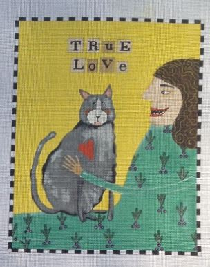 click here to view larger image of True Love (Cat) (hand painted canvases)