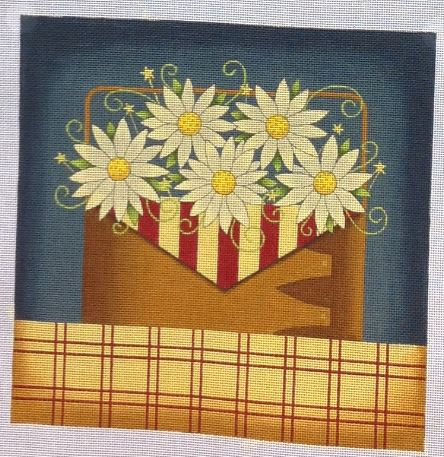 click here to view larger image of Flower & Flag (hand painted canvases)