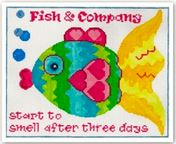 click here to view larger image of Fish Co Saying (hand painted canvases)