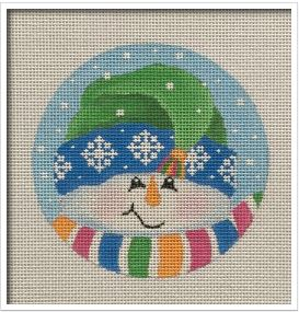Tassel Snowman Ornament hand painted canvases