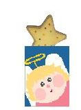 click here to view larger image of Angel Treat Bag w/Star (hand painted canvases)