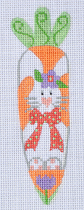 click here to view larger image of Bunny w/Flower Carrot (hand painted canvases)