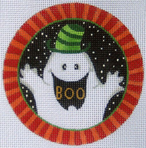 click here to view larger image of Boo Ornament (hand painted canvases)