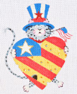 click here to view larger image of 4th of July Cat (hand painted canvases)