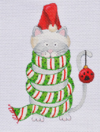 click here to view larger image of Cat in Scarf (hand painted canvases)