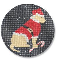 click here to view larger image of Yellow Lab Santa (hand painted canvases)