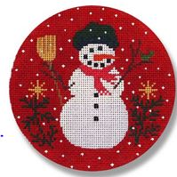 click here to view larger image of Carrot Snowman (hand painted canvases)