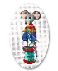 click here to view larger image of Stitching Mouse (hand painted canvases)