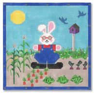 click here to view larger image of Gardener Bunny (hand painted canvases)