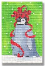 click here to view larger image of Baby Penguin with Bow (hand painted canvases)