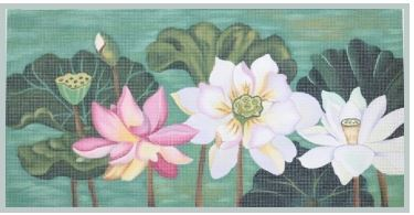 click here to view larger image of Lotus Garden (hand painted canvases)
