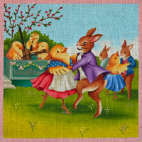 click here to view larger image of Easter Dance (hand painted canvases)