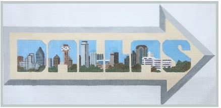 click here to view larger image of Dallas (hand painted canvases)