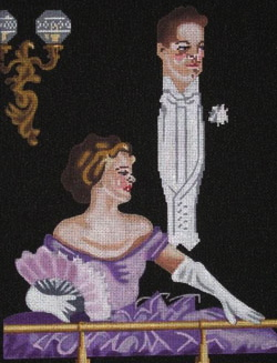 click here to view larger image of At The Opera (hand painted canvases)