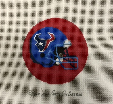 click here to view larger image of Houston Texans Helmet - Football Ornament (hand painted canvases)