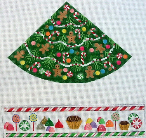 click here to view larger image of Christmas Tree With Candies - Round Hinged Box (hand painted canvases)