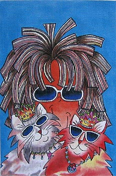 click here to view larger image of Cats Rule - Tingle Heart (hand painted canvases)