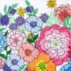 click here to view larger image of Large Garden Jewels 2 (hand painted canvases)