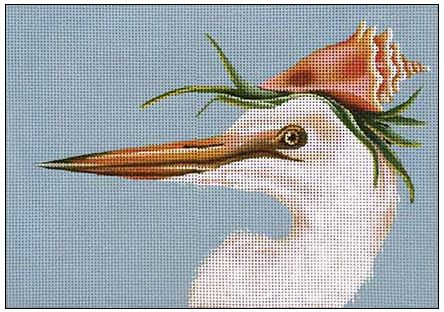 click here to view larger image of Avery - White Heron (hand painted canvases)