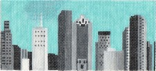 click here to view larger image of B/W Houston City Landscape (hand painted canvases)