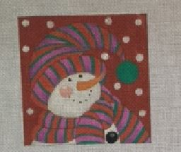 click here to view larger image of Bundled Snowman 2 (hand painted canvases)