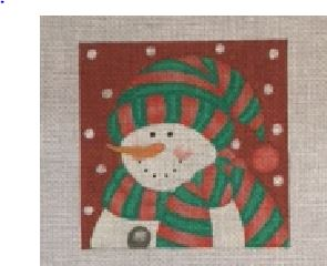 click here to view larger image of Bundled Snowman 1 (hand painted canvases)