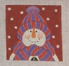 click here to view larger image of Bundled Snowman 3 (hand painted canvases)
