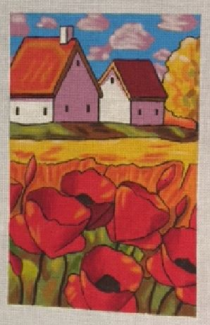 click here to view larger image of Red Poppies (hand painted canvases)