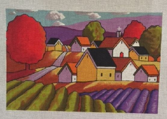 click here to view larger image of Lavender Fields (hand painted canvases)