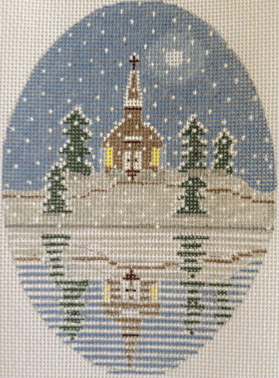 click here to view larger image of Church Reflection Ornament (hand painted canvases)
