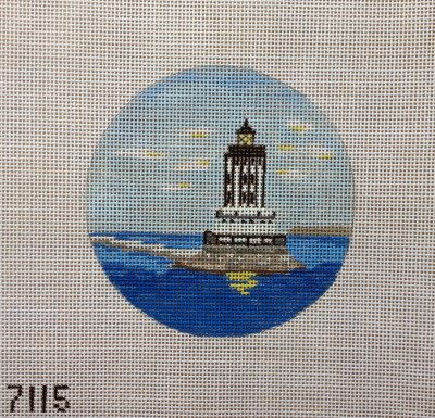 click here to view larger image of Angel's Gate Lighthouse Ornament (hand painted canvases)