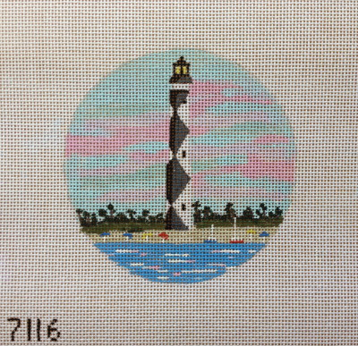 click here to view larger image of Cape Lookout Lighthouse Ornament (hand painted canvases)