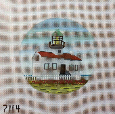 click here to view larger image of Old Point Loma Lighthouse Ornament (hand painted canvases)