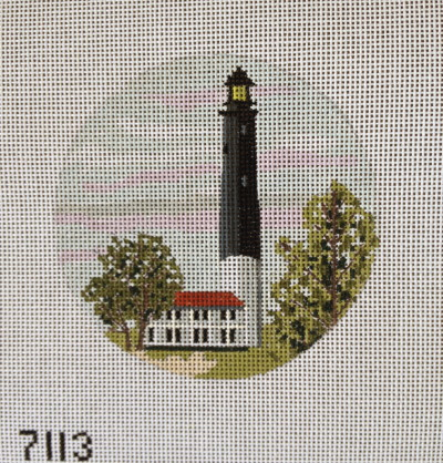 click here to view larger image of Pensacola Lighthouse Ornament (hand painted canvases)