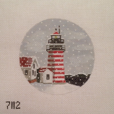 click here to view larger image of West Quoddy Light Ornament (hand painted canvases)