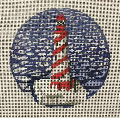 click here to view larger image of White Shoals Light Ornament (hand painted canvases)