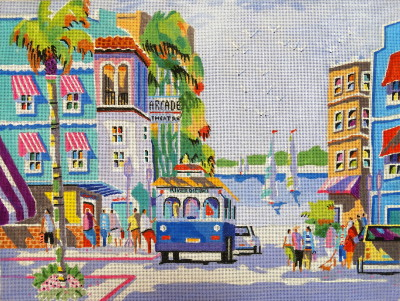 click here to view larger image of City of Palms (hand painted canvases)