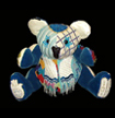 click here to view larger image of Judaic Bear (hand painted canvases)
