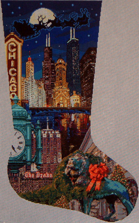 click here to view larger image of Chicago Stocking - 13M (hand painted canvases)