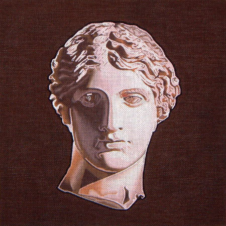 click here to view larger image of Grecian Head (hand painted canvases)