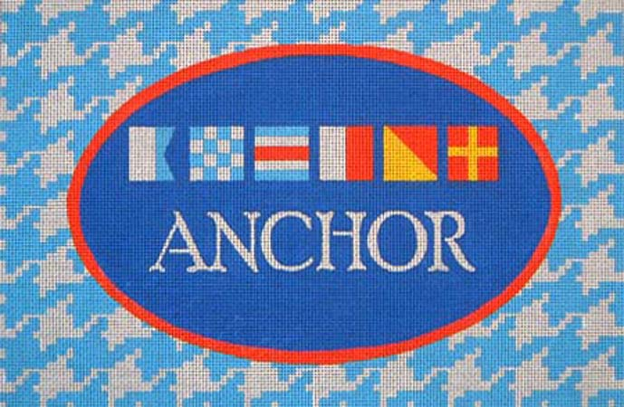 click here to view larger image of Anchor Signal Flag (hand painted canvases)